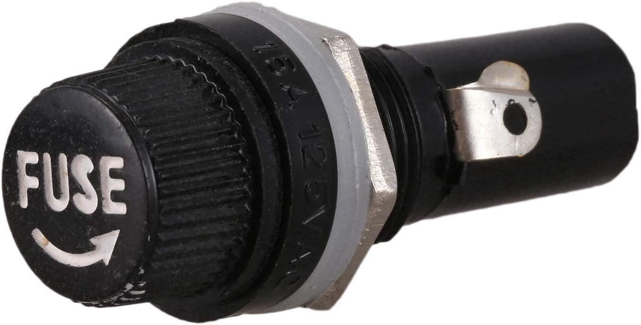 ACAMPTAR 5Pcs AC 125V 15A 6 x 30 mm Plattenmontage Sicherungshalter