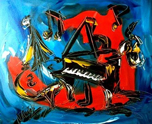 [Original Paintings Artwork Music Jazz Hearts Pop Art Modern Contemporary] (Contemporary Modern Palette)