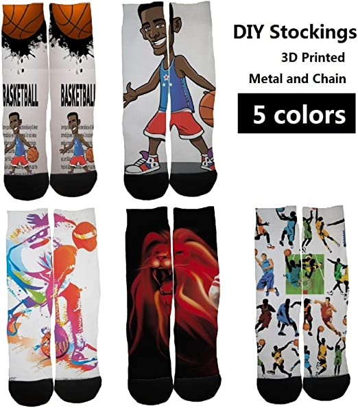 Free shipping Slam Dunk Cartoon Socks Boys Sneakers NBA Basketball QL 5 Pairs