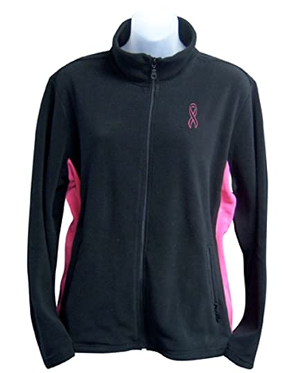 c71294029 Full Zip Fleece Jacket with Pink Ribbon Embroidery