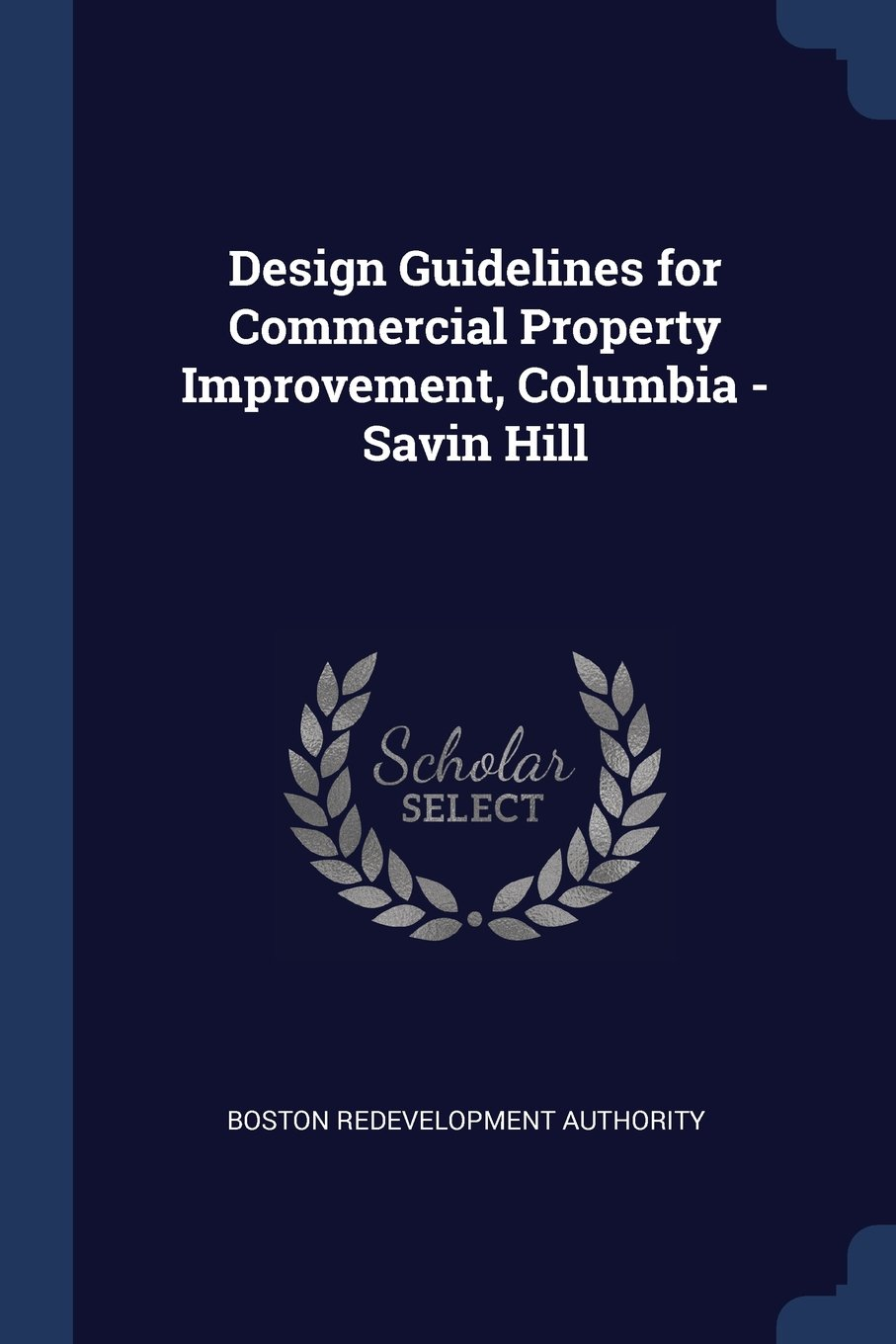 Design Guidelines for Commercial Property Improvement, Columbia - Savin Hill pdf epub