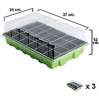 Semillero Invernadero 24 Compartimentos Con Bandeja Anti Goteo