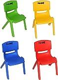 Sitzgruppe - Tisch + 4 Kinderstühle - BUNT - bis 100 kg belastbar / stapelbar / kippsicher - für INNEN & AUßEN - Plastik / Kunststoff - Kindermöbel für Mädchen & Jungen - Stuhl Stühle / Kinderzimmer / Kindertisch - Kinder - Gartenmöbel Kindertischgruppe - Tischgruppe