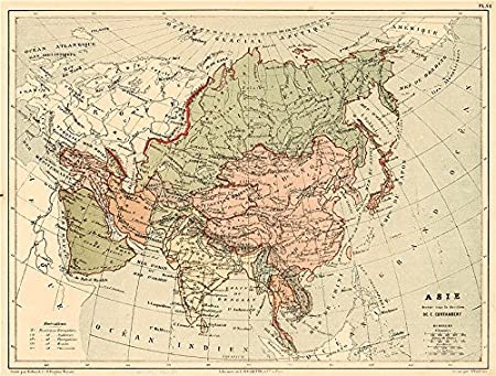 Map Of Asia In French.Asia Political Showing British French Portuguese Ottoman Possessions