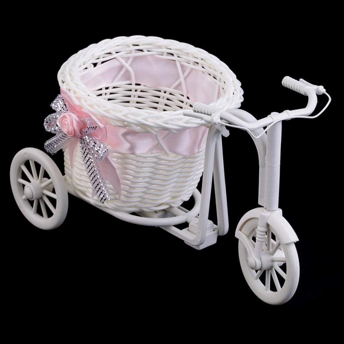 Candyboom Dormitorio de la Oficina de plástico como Regalo del riciclo Triciclo en Bicicleta Cesta de Flores decoración del Banquete de Boda Mini Carro de la Utilidad