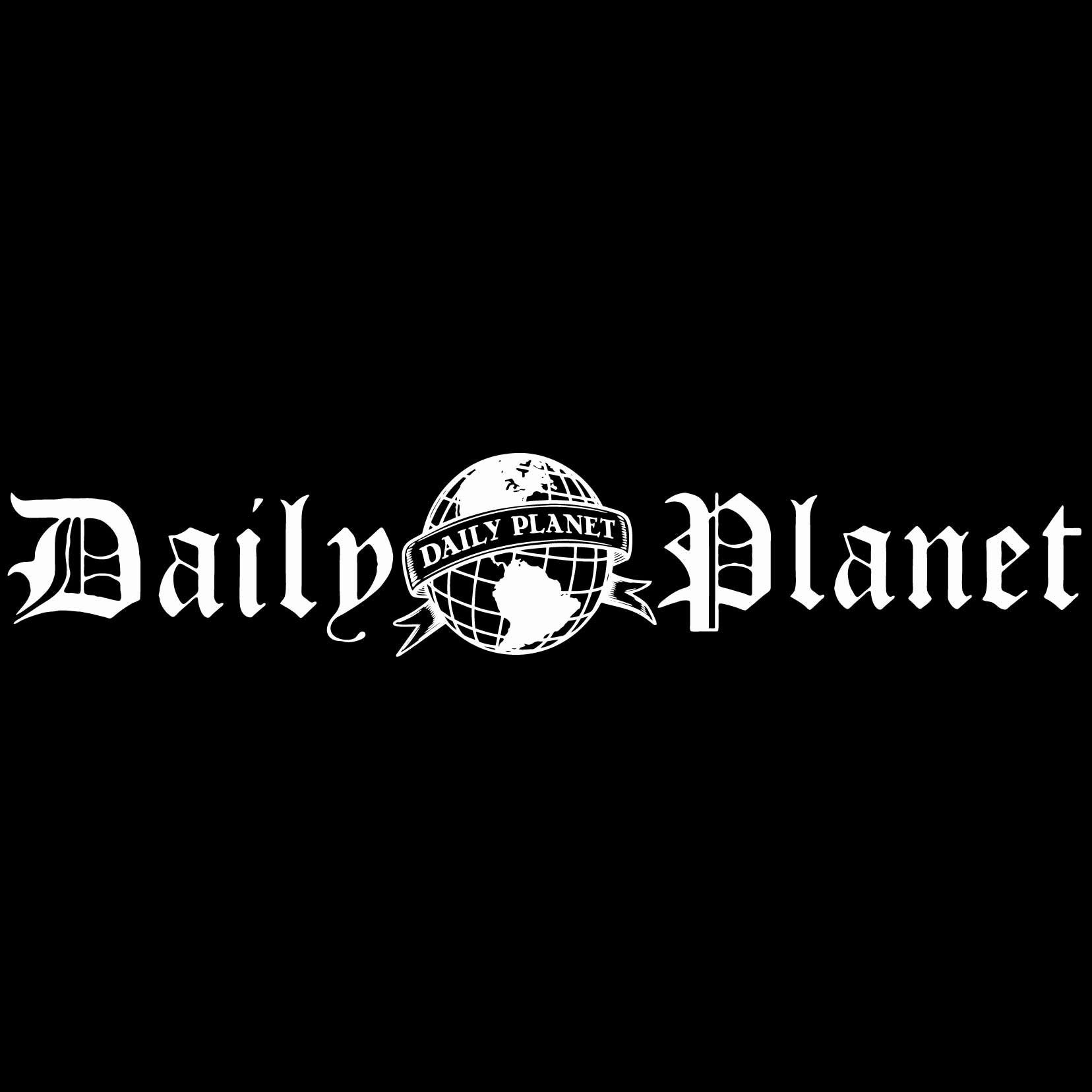 Daily Planet Logo - Vinyl Decal Sticker - For wall, vehicle, computer, home decor (116x22 inch, Matte White)