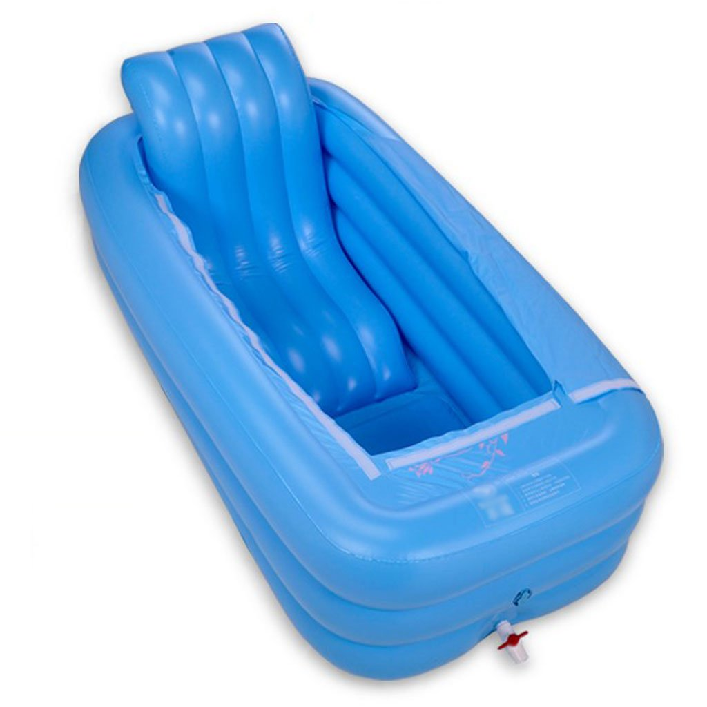 GYZ Bathtub-Adult Inflatable Bathtub Folding Bathtub Thicken Keep Warm Plastic S Back Bath Bathing Bucket Inflatable hot tub