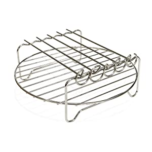 Air Fryer Double Layer Rack, Air Fryer Accessories Multi-purpose Rack Fits Most 4.2QT or Above(8in,5pins)