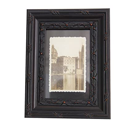 Amazon.com - Vintage Wood Picture Frames 8x10 Black Handmade Retro ...