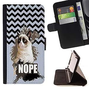 King Case - FOR Apple Iphone 6 - Everything happens for a reason - Prima caja de la PU billetera de cuero con ranuras para tarjetas, efectivo Compartimiento desmontable y correa para la mu?eca
