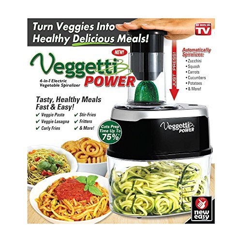 Veggetti Power 4-in-1 Vegetable Spiralizer in Black - As Seen On TV