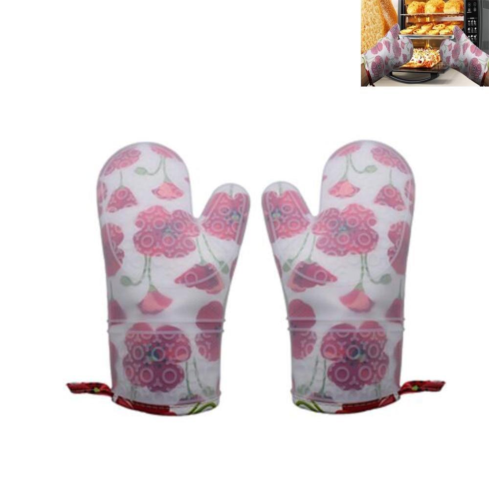 DB & PEISHIシリコンPlusコットンオーブン断熱手袋、高温度耐性キッチンBaking手袋 6786762676885 B078KSRG91  1