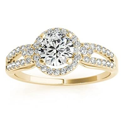 5e98ff9cd3 Image Unavailable. Image not available for. Color: Design Your Own Halo  Diamond Engagement Ring ...
