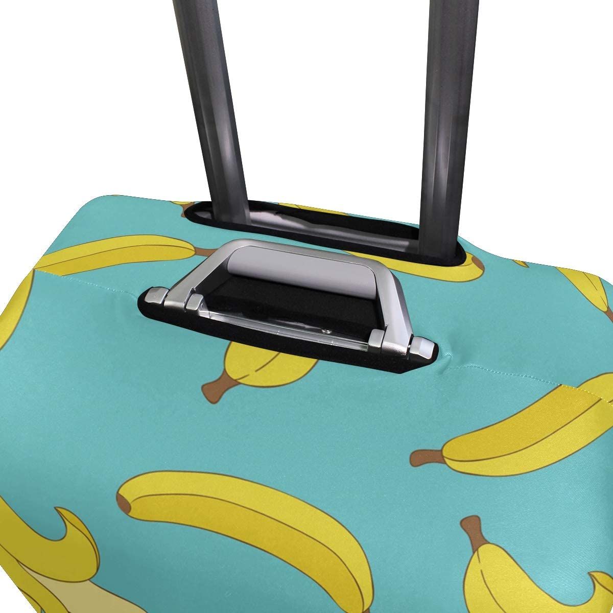 Baggage Covers Summer Banana Pattern Blue Background Washable Protective Case