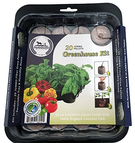 Sustainable Seed Easy Seed Starting Mini Greenhouse Kit (Greenhouse (Seed Starter Mini Greenhouse)