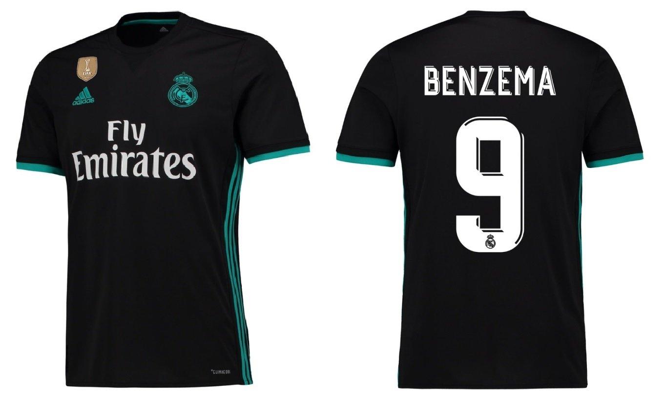 Trikot Kinder Real Madrid 2017-2018 Away WC - Benzema 9
