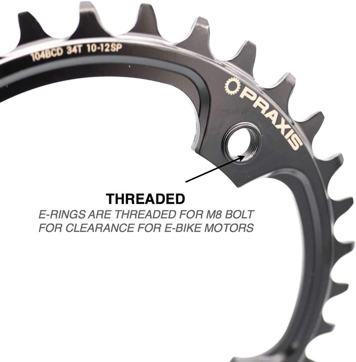 Praxis Works eRing Mountain Bicycle Chainring 34-7001 Steel 34T 104BCD Wave Tech
