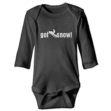 4cca7adc7 FLOP CEAD Baby Kids Got Snow Snowmobile Snowmobiling Snow Sport Long Sleeve  Onesies Jumpsuit Black