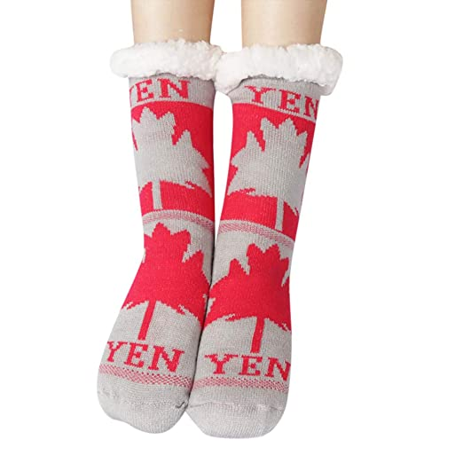 565fd2797d6b Image Unavailable. Image not available for. Color: GREFER Women Soft Fluffy  Fuzz Thick Coral Warm Winter Floor Socks