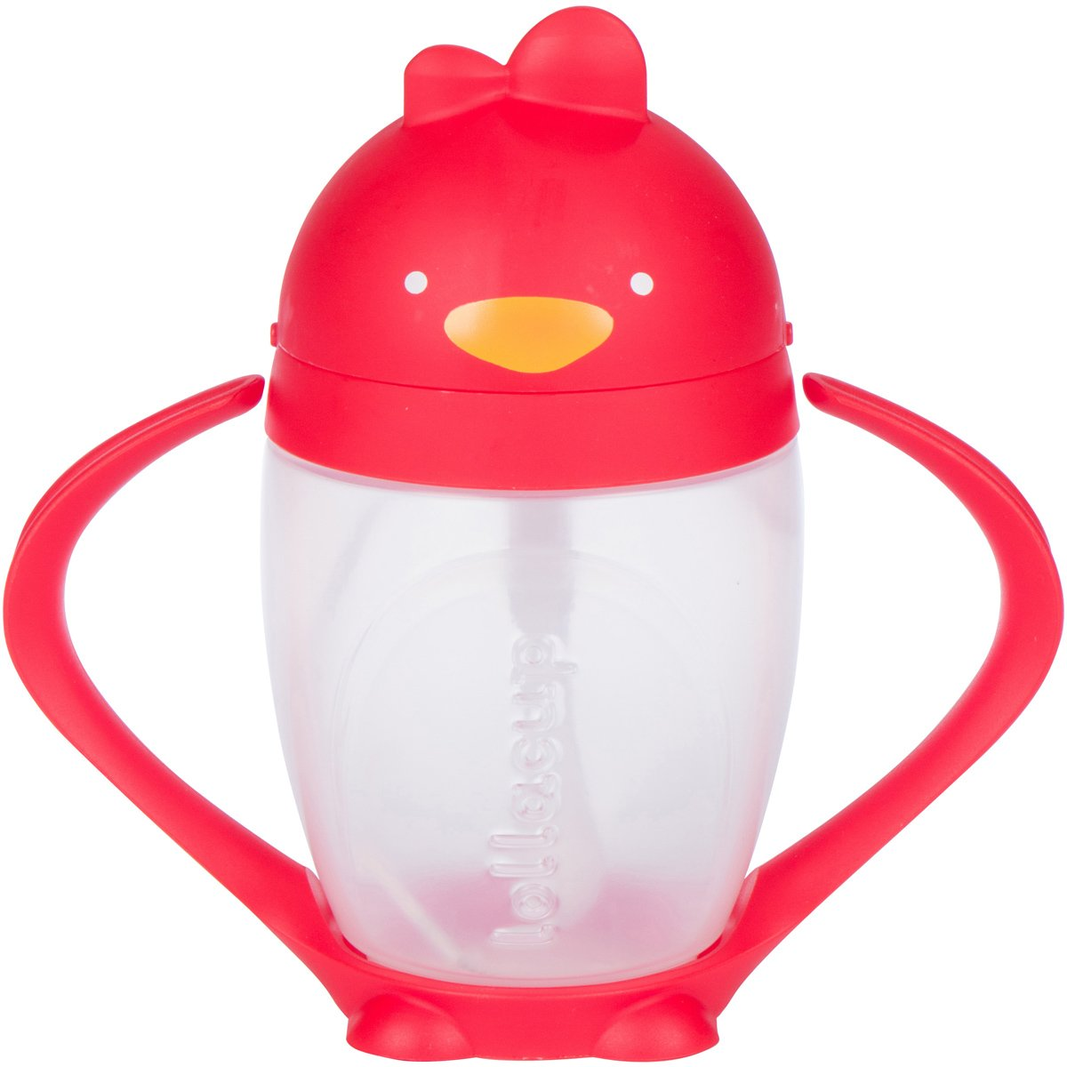 Lollaland Lollacup, Red   10 oz Straw Sippy Cup with Weighted Straw Made in USA