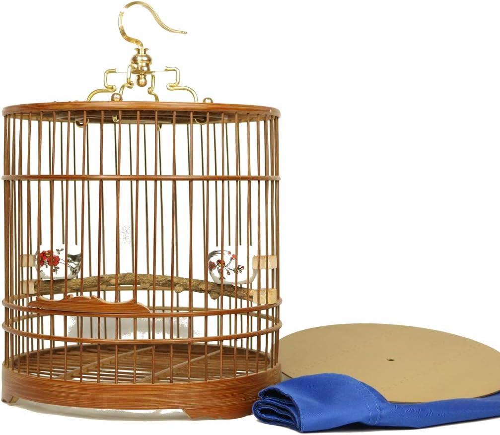 Pequeño Jaula De Pájaros Portátil Jaula Metálica para Mascota Aves Loros Canarios,Rojo
