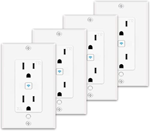 Lumary Smart Wi-Fi In-Wall Outlet 15 Amp 125 Volt Tamper Resistant Split Duplex Receptacle, Individual Control of 2 Plugs, Compatible with Alexa, Google Home No Hub required