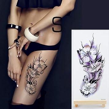 etiqueta engomada del tatuaje tatuaje de flores para mujeres ...