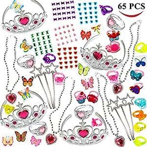 Joyin Toy 65 Pieces Girls Princess Jewelry Toy Playset