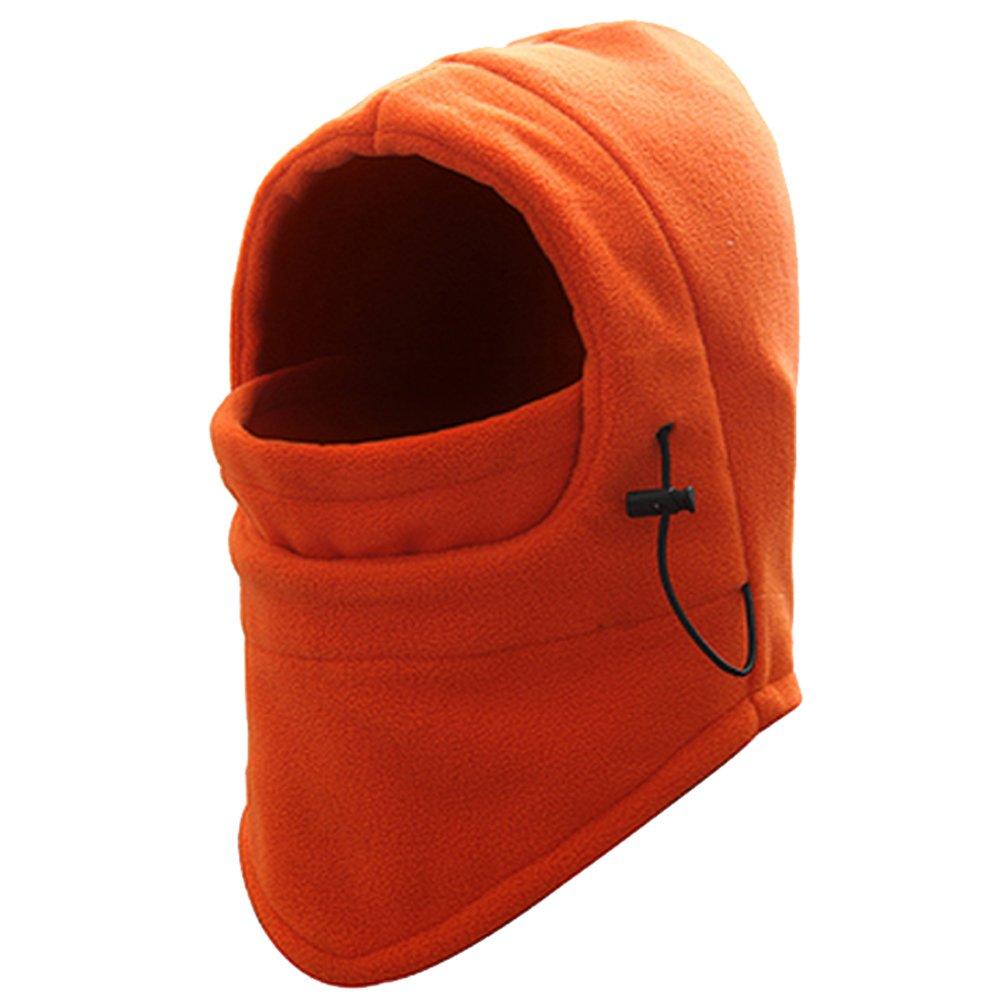 DODOING Sport WearフリースBalaclava/フード付きフェイスマスク/Neck Warmer/スキー&スノーボードマスク/Windプロテクター/Multipurpose Cold Weather Gear forメンズ&レディース One Size fit Most Orange-1PC B078MNBGZV
