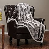 "Chanasya Super Soft Ultra Plush Powerful Hope and Faith inspirational Messages Posivite Energy Comfort Caring Uplifting Gift Gray Microfiber Throw Blanket ( 50"" x 65"" )"