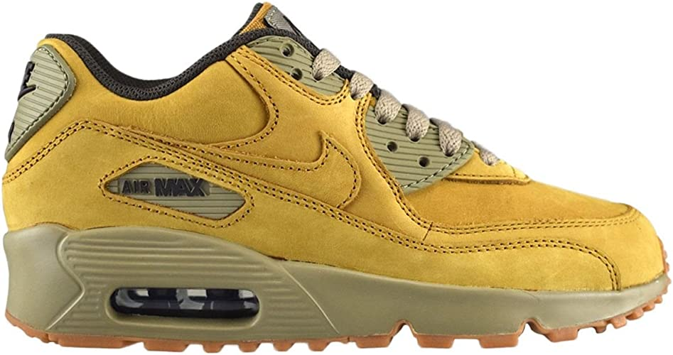 | Nike Youth Air Max 90 Winter Yellow Leather