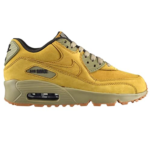 29cf63f78e Amazon.com | Nike Youth Air Max 90 Winter Leather Trainers Yellow ...