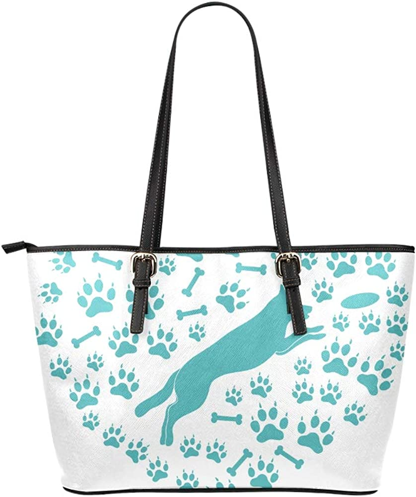 Gifts Bags For Women Two Labrador Retrievers And Frisbees Leather Hand Totes Bag Causal Handbags Zipped Shoulder Organizer For Lady Girls Womens Gym Tote For Women