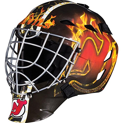 Franklin Sports New Jersey Devils Goalie Mask - Team Graphic Goalie Face Mask - GFM1500 Only for Ball & Street - NHL Official Licensed Product]()