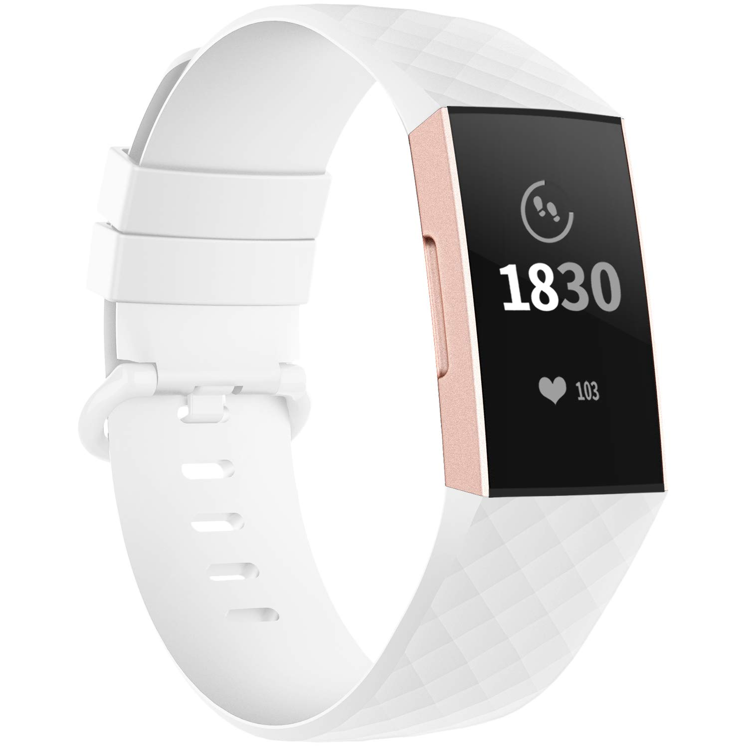 Malla Large para Fitbit Charge 3/4 Blanco -82Y5WRD2