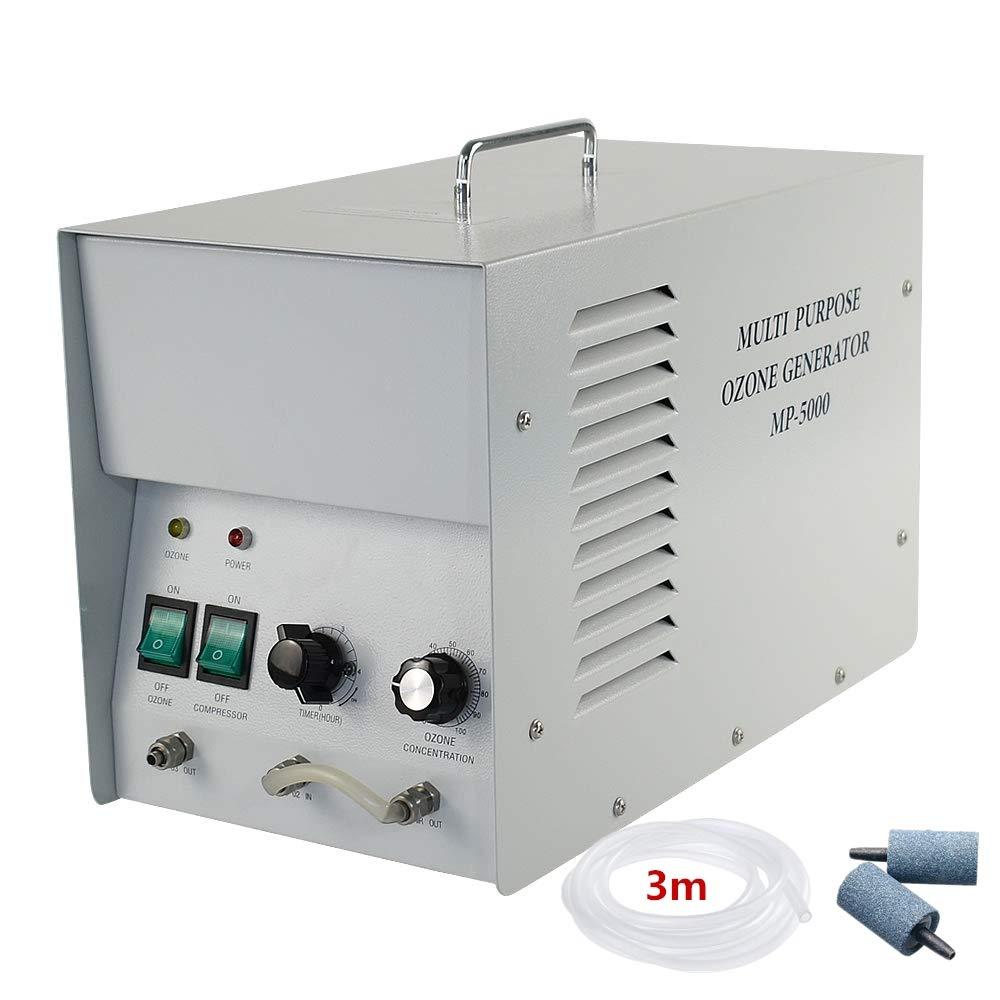 GRASSAIR Ozono Agua y Aire purificador Comercial ozono generador 1G//H Industrial O3 purificador de Aire purificador de Agua desodorizante esterilizador