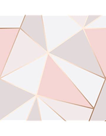 Fine Decor Fd41993 Uk Apex Geo Sidewall Wallpaper Rose Gold