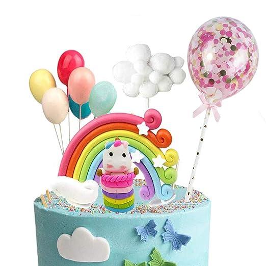 Decoración para tarta con diseño de unicornio y estrellas de ...