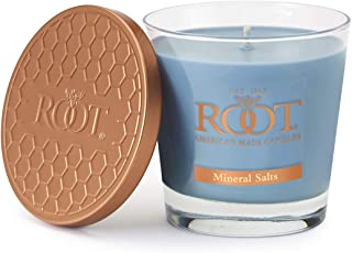 product image for Root Candles Honeycomb Veriglass Scented Beeswax Blend Candle, Small, Mineral Salts