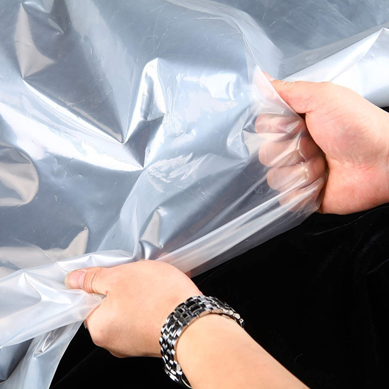 Taille: 2x10m taille: 3x4m B/âche- B/âche Rev/êtement de sol imperm/éable transparent Camping Tente Abri anti-pluie rideau avec m/étal Oeillet B/âche Size : 1x1m