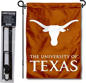 College Flags & Banners Co. Texas Longhorns Garden Flag with Stand Holder