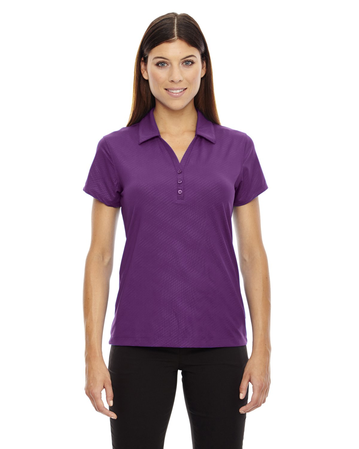 Ash City Ladies Maze Stretch Polo (XX-Large, Mulberry Purple) by Ash City Apparel