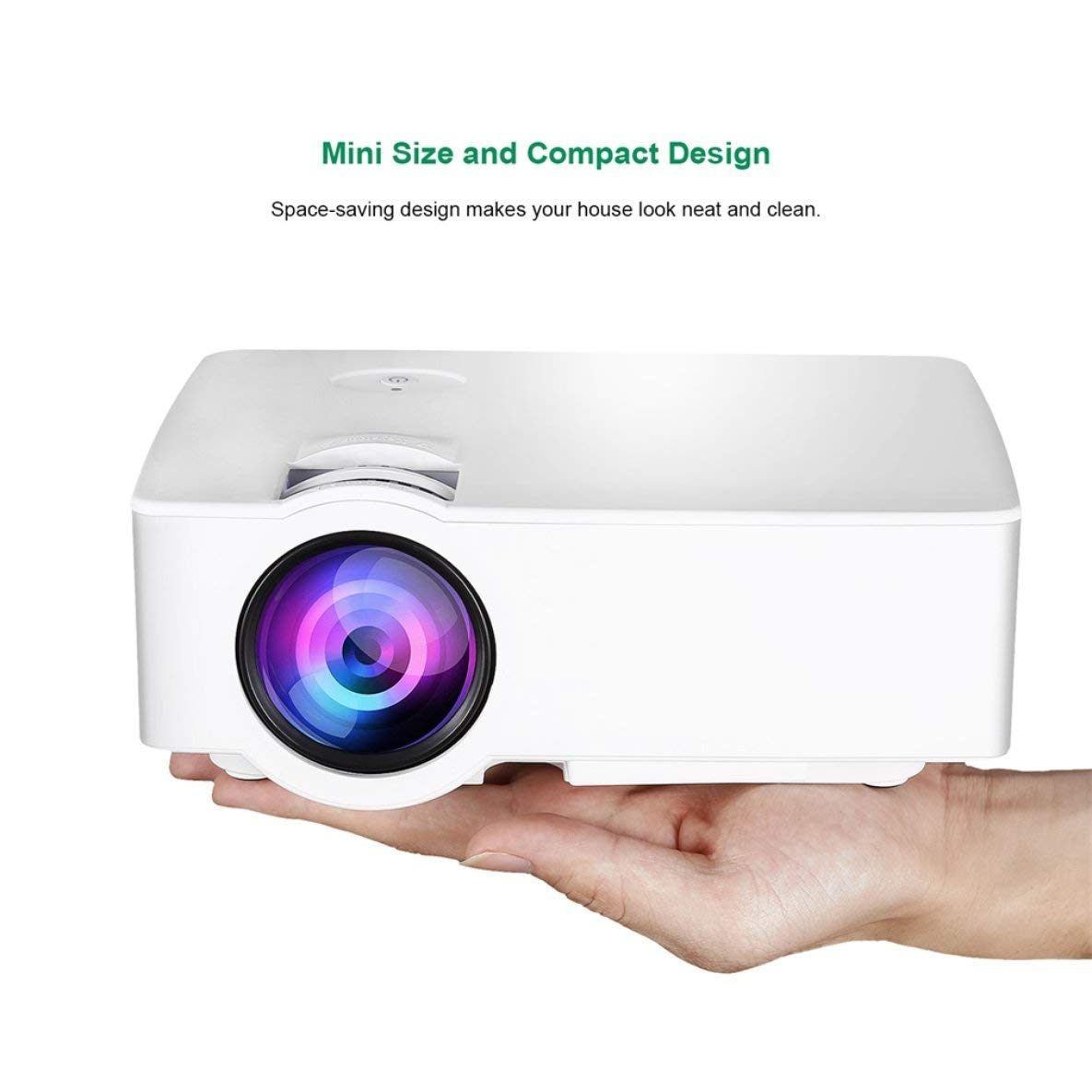 E08S Proyector 200 Lumen 800 x 480 HD LED Cine Control IR IR con ...