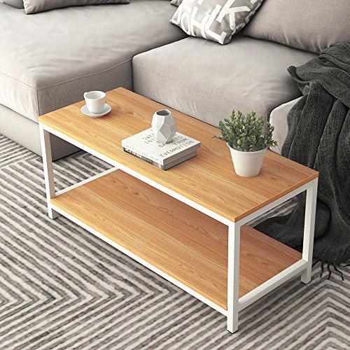 Dland Coffee Table TV Stand 39'', Rectangular Composite Wood
