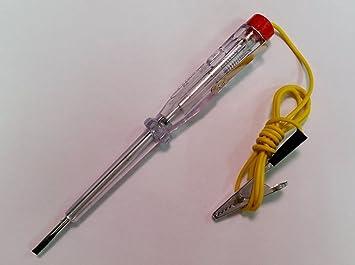 Carcommerce Lámpara de Prueba Tester Detector de Corriente 6 V 12 V 24 V para Coche Auto Voltaje Detector: Amazon.es: Coche y moto