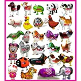 SET OF 1000 WALKING ANIMAL BALLOON PETS AIR WALKERS, MIXED Walking Animal Balloons Pet Balloons - Birthday Party Supplies Kids Balloons Animal Theme Birthday Party Decorations