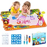 "Betheaces Aqua Magic Mat, Kids Toys Large Water Drawing Mat Toddlers Painting Board Writing Mats in 6 Colors with 2 Magic Pens and 1 Brush for Boys Girls Educational Gift Size 34.5"" X 22.5"