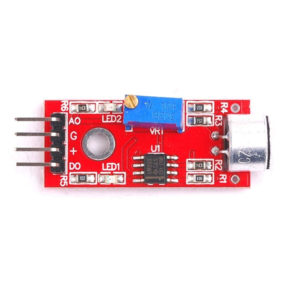 Sadasda223 Modul KY-037 4pin Voice Sound Detection Sensormodul Mikrofonsender Smart Robot Car for Arduino