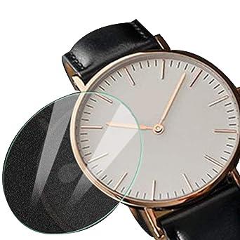 Protector de Pantalla de Acero para Reloj Inteligente, 36 mm, Protector de Pantalla Redondo de Cristal Templado: Amazon.es: Relojes