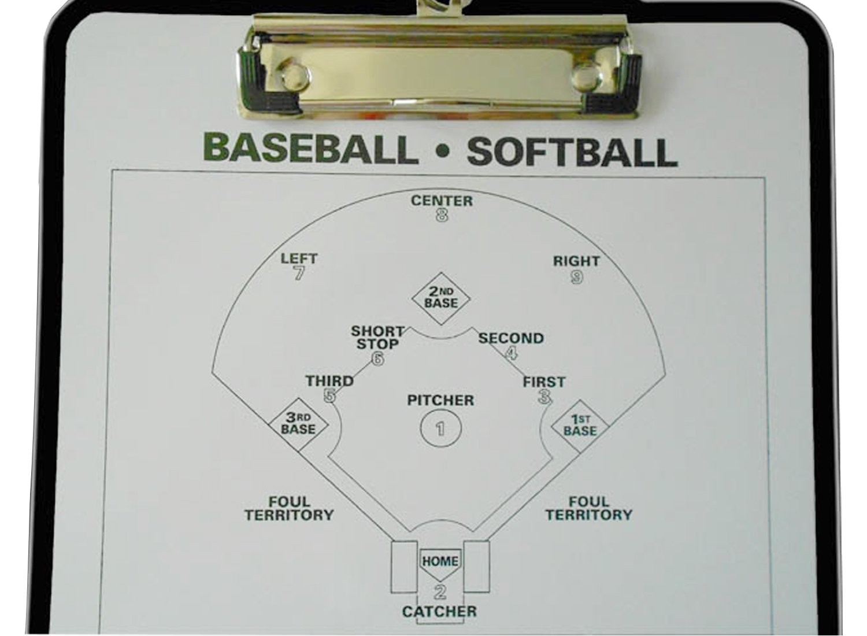 Odowalker Baseball Clipboard Softball Lineup Board Coach Tactics Board Coach's Traning Aid Match Plan Strategy Notebook with Dry Erase Marker Pen Lamilla